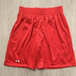 Under Armour Womens Double Double Shorts Red Small